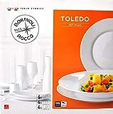 Servicio. Juego de platos Toledo Bormioli Rocco Cristal