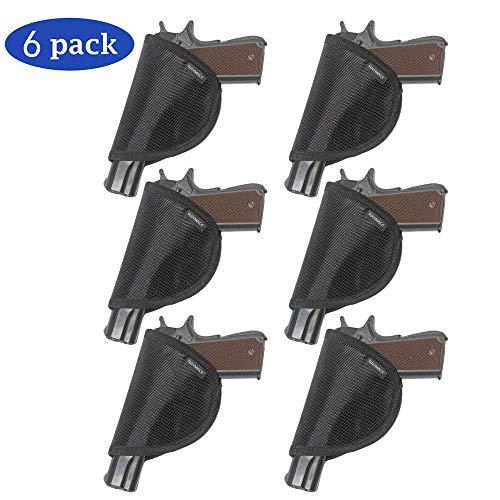 Raymace Pistol Holster with Adhensive Backing,Gun Safe Accessories Pistol Handgun Holster Storage Solution Mount Inside Gun Safes Door (6 Pack)