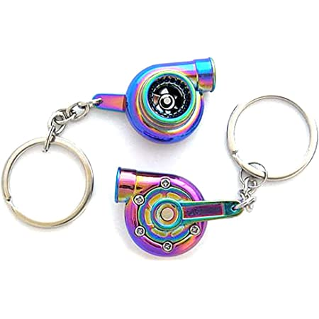 Boostnatics Rechargeable Electric Electronic Turbo Keychain with Sounds V5 LED! Chrome NEW Version 5