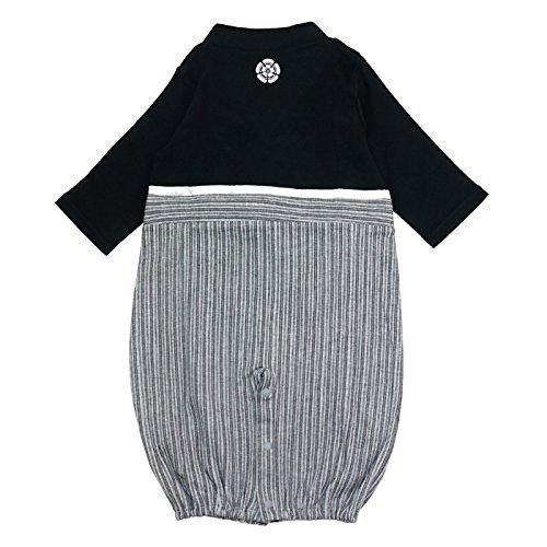 ベビー新生児ベビー服ツーウェイオール兼用ドレスセレモニードレス袴風男の子カバーオール黒50-7030670506BK5070