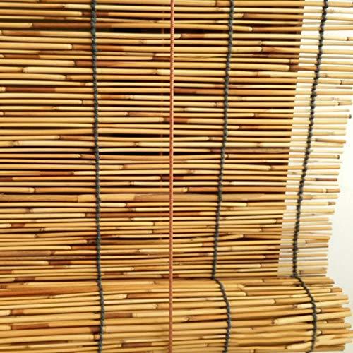 Estor Enrollable de Bambú Natural,Persianas Retro,Partición de Balcón,Persianas Enrollables Transpirables,Decoración Hogareña,Tejidas a Mano,para Ventana Gazebo Balcón Patio (150*350cm/59*138in)
