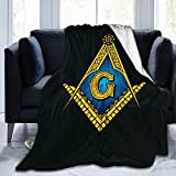 Freemasonry Masonic Lodge Symbol Warm Blankets Ultra-Soft Throw Multi-Size Micro Fleece Blanket for Bed Couch Living Room