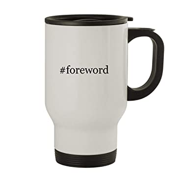 #foreword - Stainless Steel Hashtag 14oz Travel Mug, White