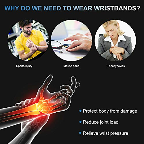 XN8 Wrist Support Neoprene Elastic Palm Brace-Weight Lifting Breathable Strap-Gym Bandage-Wrap Splint Brace Ideal for Reducing Pain from with Carpal Tunnel Sprains or Arthritis