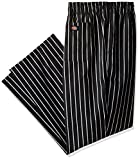 Dickies Chef Traditional Baggy Pant, Stripe Black/White, X-Small