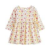 Baby Mädchen Kleider – Baby Kleidung Mädchen Kleinkind Baby Mädchen Langarm Kleid Einteiler Floral Printed Prinzessin Kleid Herbst Kinder Rock (6 Monate bis 3 Jahre), gelb, 2-3 Jahre