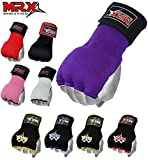 MRX Boxing Hand Wraps Inner Gloves for Punching – Knuckle and Fist Protection – Elasticated Padded Under Mitts with Quick Long Wrist Wrap – Great for MMA, Muay Thai, Kickboxing & Martial Arts Training