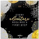 Grupo Erik CP21032 Calendario 2021 da Muro Glitter Gold Dreams, calendario frasi, 12 mesi, include poster regalo, 30 x 30 cm