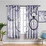 WH-PORP cortinas opacas termicas infantiles Púrpura abstracto...