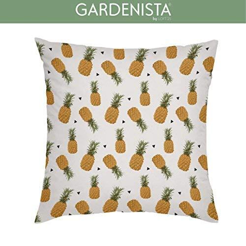 Gardenista Fundas de Cojines de Jardín Decorativos 45x45 cm | Fundas para Afuera Agua Resistentes | Tela Suave Agua Resistente | Colección de Piña Tropical para Jardines (Pineapple D)