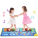 Coolplay Multifunction Piano Keyboards Play Mat, Touch Carpet Music Mat with 8 Selectable
