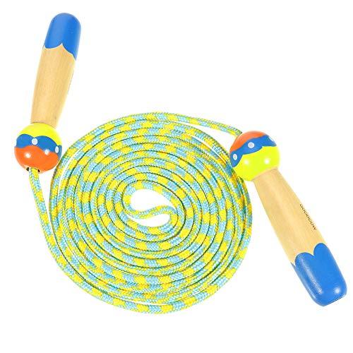 You&Lemon Springseil für Kinder Verstellbare Springseil Kinder Lang mit Cartoon Holzgriff für Jungen und Mädchen, Sport Training
