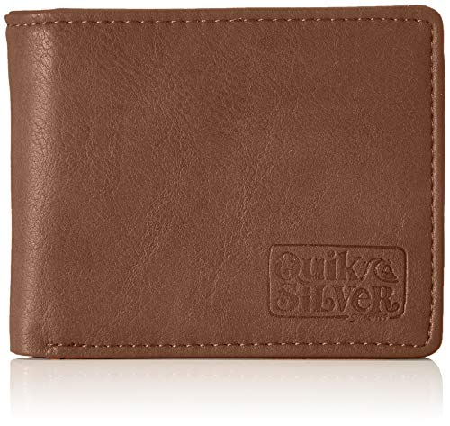 Quiksilver Slim Folder, Monederos. para Hombre, marrón, Medium