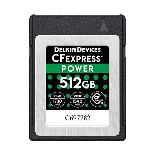 Delkin CFexpress Type-B POWER メモリーカード 512GB 書込み速度 1540MB/s 読出し速度 1730MB/s DCFX1-512