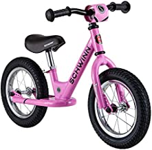Schwinn Toddler Balance Bike, 12-Inch Wheels, Beginner Rider Training, Pink