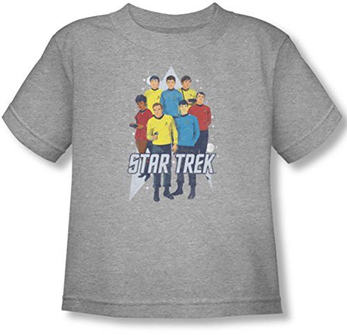 Star Trek - - Niño Aquí aquí camiseta, 4T, Athletic Heather