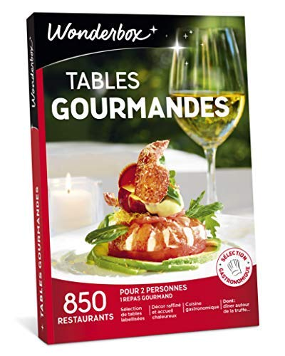 Coffret Wonderbox Tables gourmandes