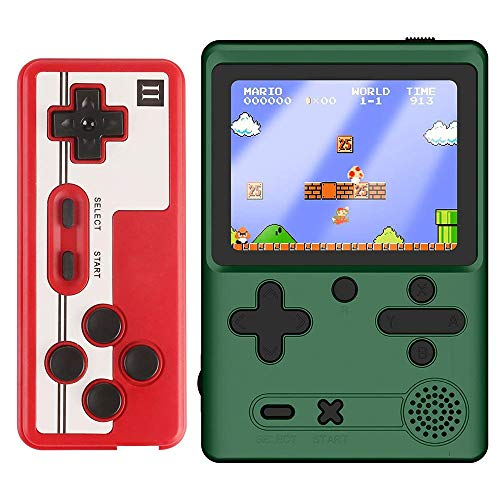 Jackky Handheld Portable Game Console M6 Retro Mini Game Player, with 500 Classical FC Games,...