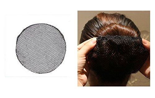 takestop® Set aus 4Haarnetzen in schwarz für Tanz und Ballett zum Verbergen des Haars unter Perücken oder Kappe atmungsaktiv Zubehör für Damen-Frisuren