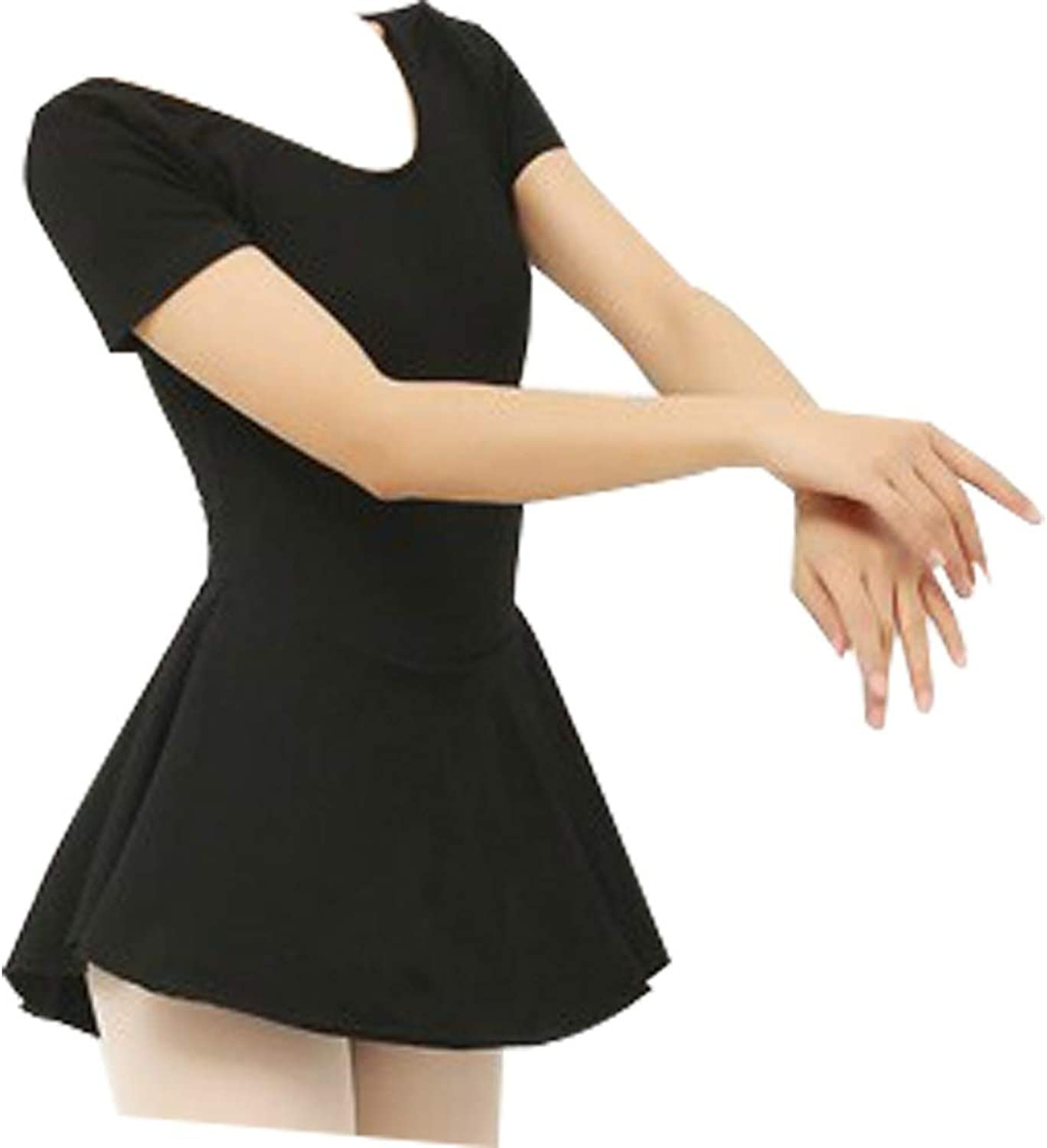 Xiao Jian Ballet Skirt Adult Practice Clothes Full Body Dance Clothing Female Siamese Skirt Suit Short Sleeve Gymnastics Suit Gymnastics Clothing Small Size Two Yards Dancing unifom