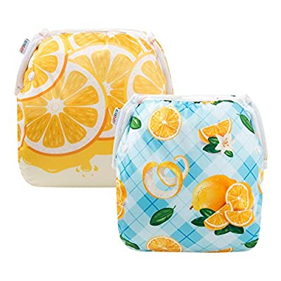 ALVABABY Baby Swim Diapers 2pcs Reuseable & Adjustable for Swimming Lesson & Baby Shower Gifts (YK51-D47)