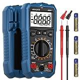 """Multimetro Digitale JOAUIAX,6000 volte AC/DC tester multicanale di tensione e corrente DC,voltmetro che misura temperatura/resistenza/continuità/diodo e NCV/salvataggio dati/2.2""""LCD/luce LED-JMD01"""