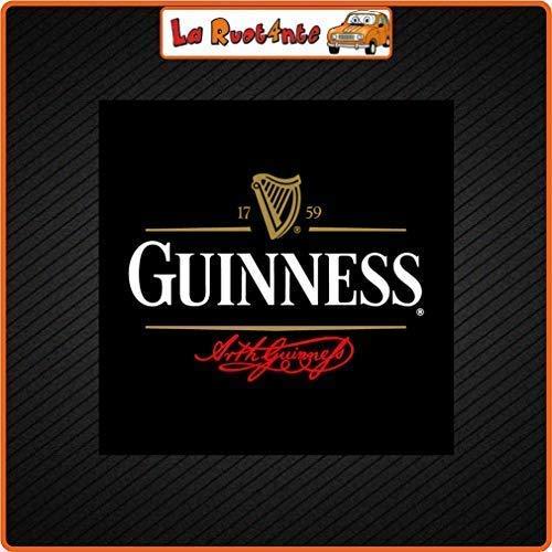 La Ruotante 2 Stickers Bier Guinness (Vinyl) Auto Motorfiets Vespa Fietshelm 19x19 Cm