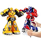 HZL- Remote Control 2.4G Humanoid Fighting Robot Battle Boxing Robot Toys Two Control Joysticks Real Boxing Fight Experience
