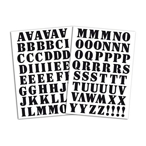 """aus schwarzem Stoff 15,5/x 27,5/x 0,1/cm Mademoiselle Toga MEG604/Alphabet mit 126/Buchstaben//Satzzeichen zum Aufb/ügeln /""""Enjoy/"""""""