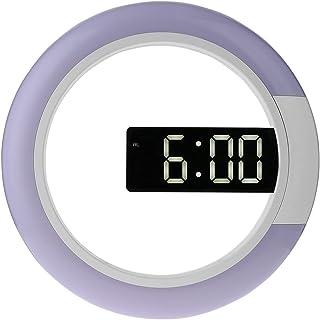 Digitale Wandklok Afstandsbediening Led Display Ring Multicolor Holle- Out Wandklok Met Alarm Temperatuur Display Dibiao R...