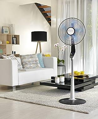 Rowenta VU5670 Turbo Silence Oscillating Fan, Standing Fan, 5 Speed Fan with Remote Control