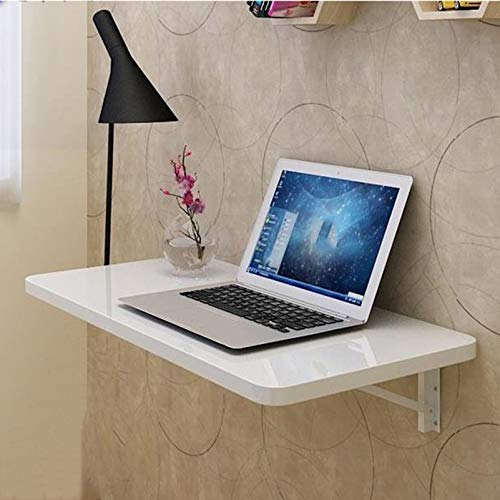 Mesa de banco de trabajo Estante duradero que ahorra espacio Escritorio plegable para computadora Escritorio multifuncional plegable para computadora portátil montado en la pared, Blanco, 30 * 70cm