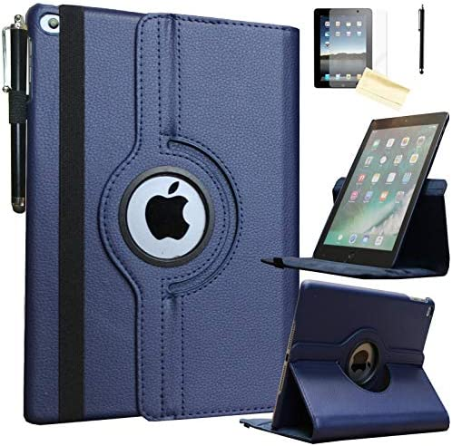 JYtrend Smart Case for iPad Air 1st Air 2nd Generation 9 7 in with Pencil Holder Rotating Stand product image