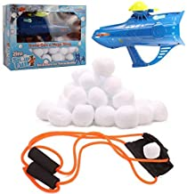 High Bounce Set of 50 Indoor Snowballs and Accessories Including Snowball Gun and Slingshot Great for Indoor and Outdoor S...