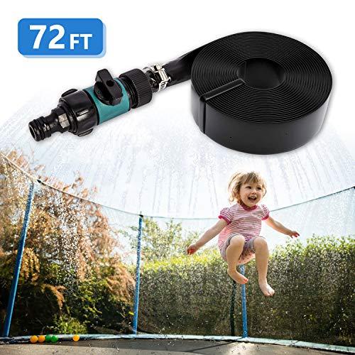 72FT Trampoline Sprinklers Sprayer for Trampoline Net, Bonviee Outdoor Water Park Ajustable Length Sprinker Hose Toys Cooling Kit for Kids Boys Girls with Instruction