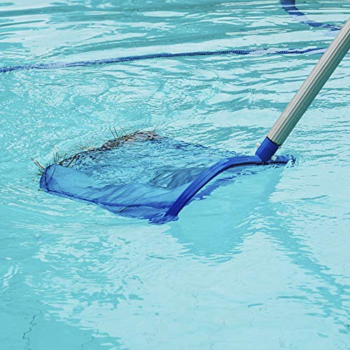 Blissun Pool Skimmer Net, Fine Mesh Deep Bag Catcher, Swimming Pool Leaf Rake Skimmer Net Cleaning Tool for Cleaning Swimming Pools, Hot Tubs, Spas and Fountains