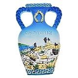 Kesheng Santorini Grecia - Imán para nevera con forma de jarrón