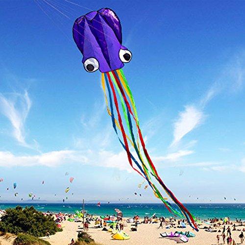 GGG 4M Ligne simple Stunt multi-couleurs Jeu de Plein Air cerf-volants Prêt à voler Outdoor Sport Jouets Nouveau - Violet couleur