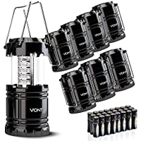 8-Pack Vont Portable Collapsible LED Lanterns
