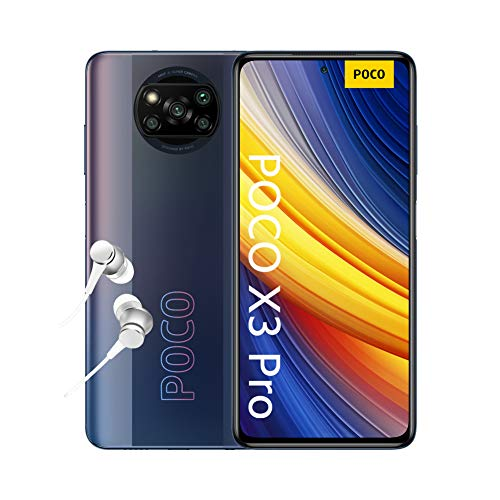 "POCO X3 Pro - Smartphone 6 + 128 GB, 6.67 ""120Hz FHD + DotDisplay, Snapdragon 860, Quad Camera 48 MP, 5160 mAh, Phantom Black"