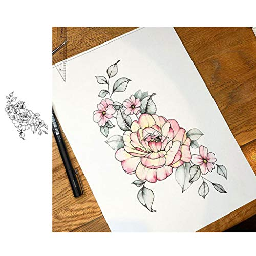 bobeini Flores Silicona Sello Transparente Sello DIY Scrapbooking grabación en Relieve álbum de Fotos decoración del Siglo XIX