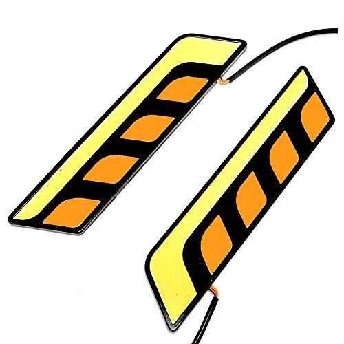 iTimo Lot de 2 feux de circulation diurnes LED COB LED pour voiture DRL
