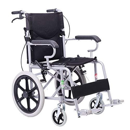 MYYLY rolstoel met verstelbare veiligheidsgordel, antislip ABS-armleuning, solide rolstoel, geschikt voor kinderen en mensen in nood (kleur: zwart) rolstoelen