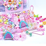 YUIOP DIY Beads Set, DIY Children's Beaded Toys Handmade Beaded Hairpins for Girls (Color : C)