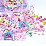 YUIOP DIY Beads Set, DIY Children's Beaded Toys Handmade Beaded Hairpins for Girls (Color : C)