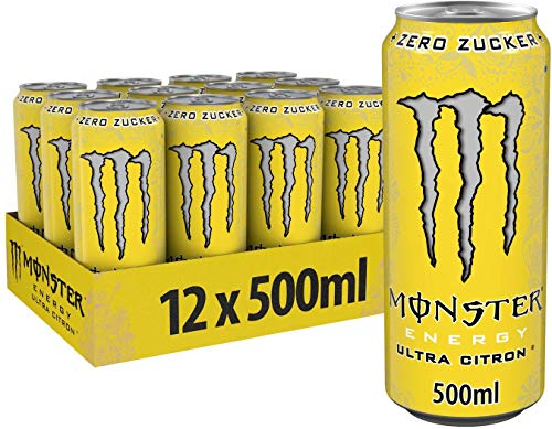 Monster Ultra Citron Energy Drink, 12er Pack, EINWEG (12 x 500 ml)