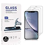 UNEXTATI Screen Protector for iPhone XR, 3 Pack Tempered Glass Film 9h HD, Premium Accessories Shatterproof Protectors Ultra Strong Case Friendly