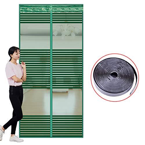 QIANC Magnetisch vliegengaas, huishoudpaneelgordijn muggen, magnetisch gordijn, zelfklevend en ademend, horizontale strepen