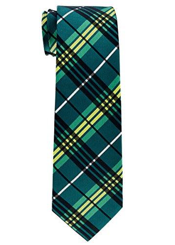 Retreez Corbata de la elegante Tejido tartán de cuadros escoceses Boy–8–10años Verde verde 8 - 10 Año