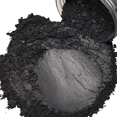 FIREDOTS Pearl Black Mica Powder, Massive 100 Gram Pot of True Cosmetic Grade Mica with Pearlescent Effect, 100% Pure for Artists Working in Resin Art, Epoxy, Concrete, Soaps, and Cosmetics
